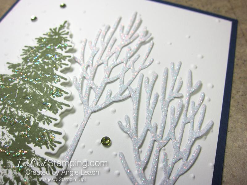 Winter woods snow scene - navy 3