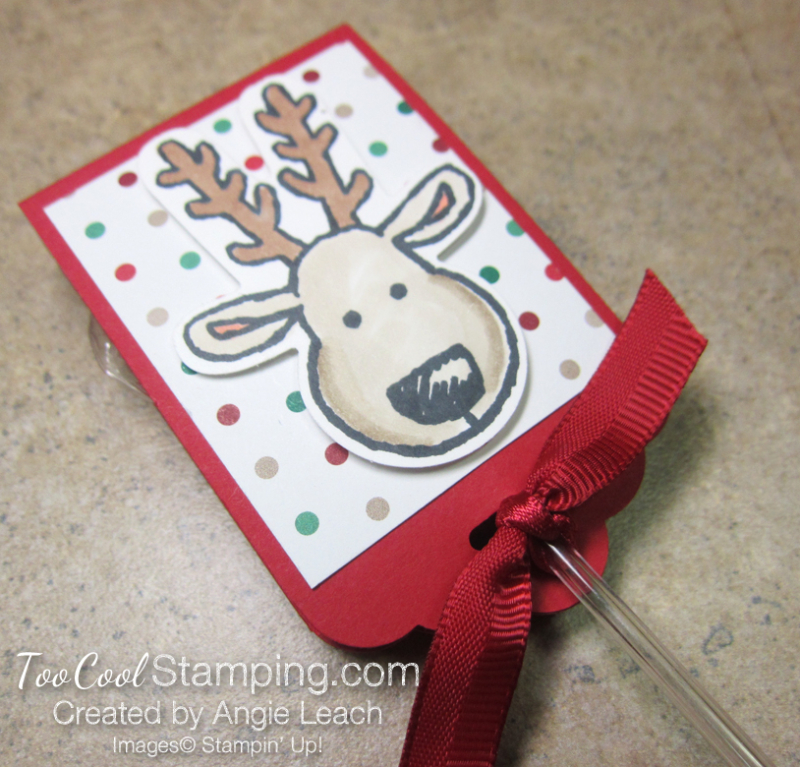 Reindeer lollipop - real red 1
