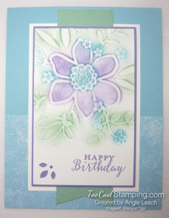 Lovely floral sponged 1 - blues