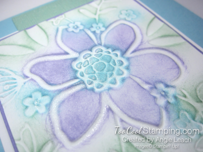 Lovely floral sponged 4 - blues