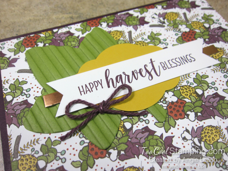 Country lane diagonal pocket card - blackberry harvest  3