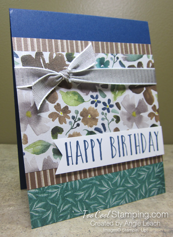 Frosted floral birthday - navy