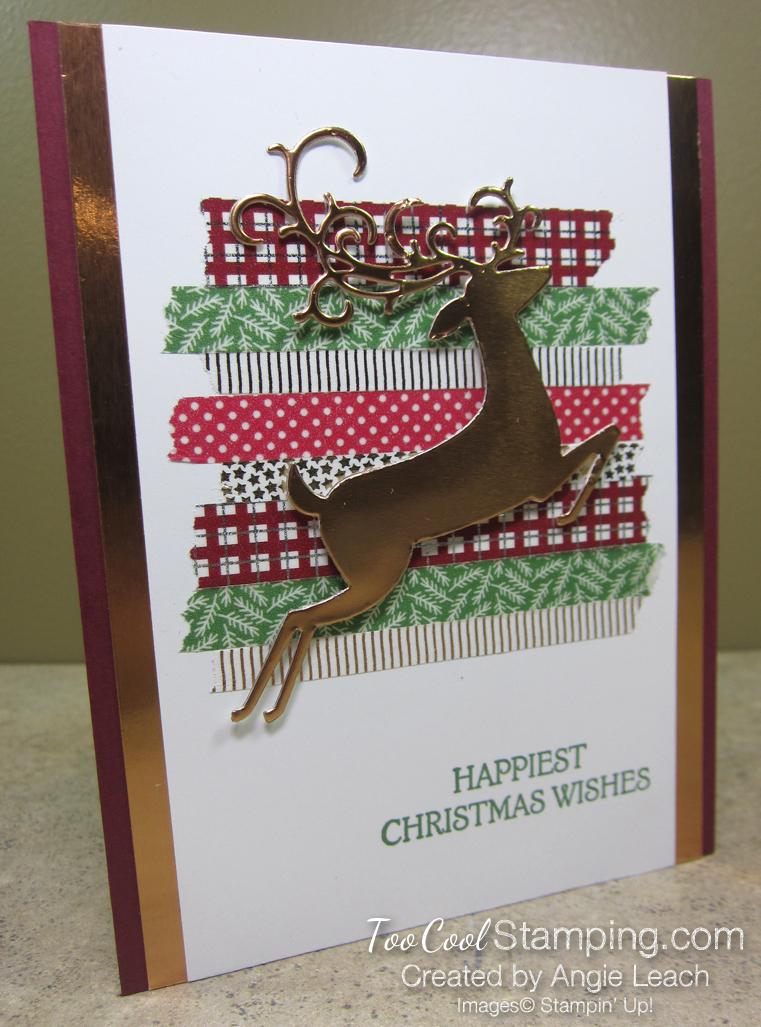 Dashing deer with washi tape - copper
