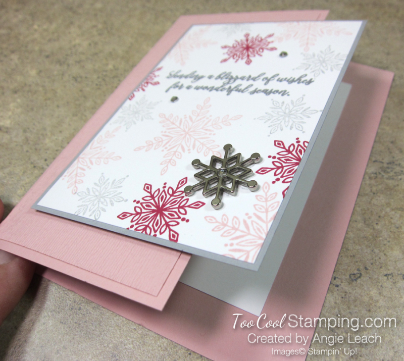 Snow is glistening nontraditional colors - blushing 2