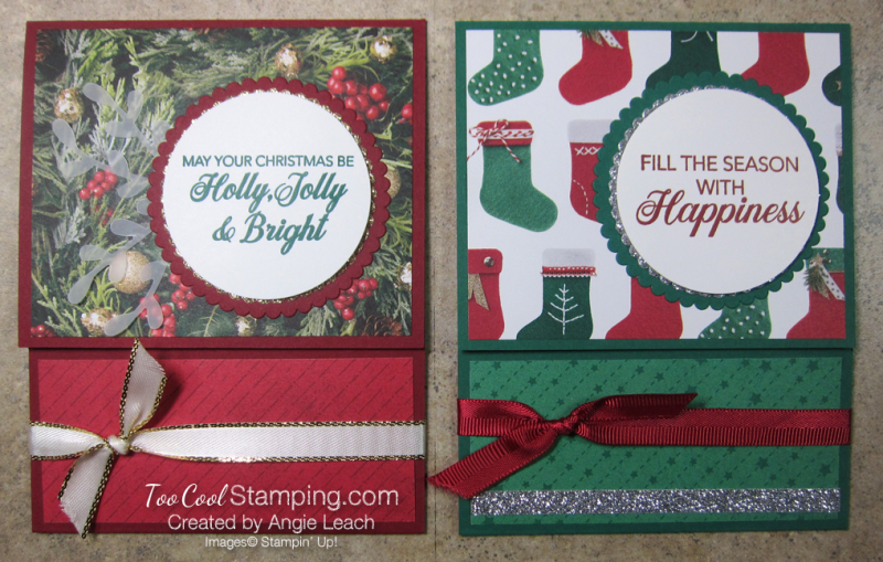 Making Christmas Bright Gift Card Holders - two cool