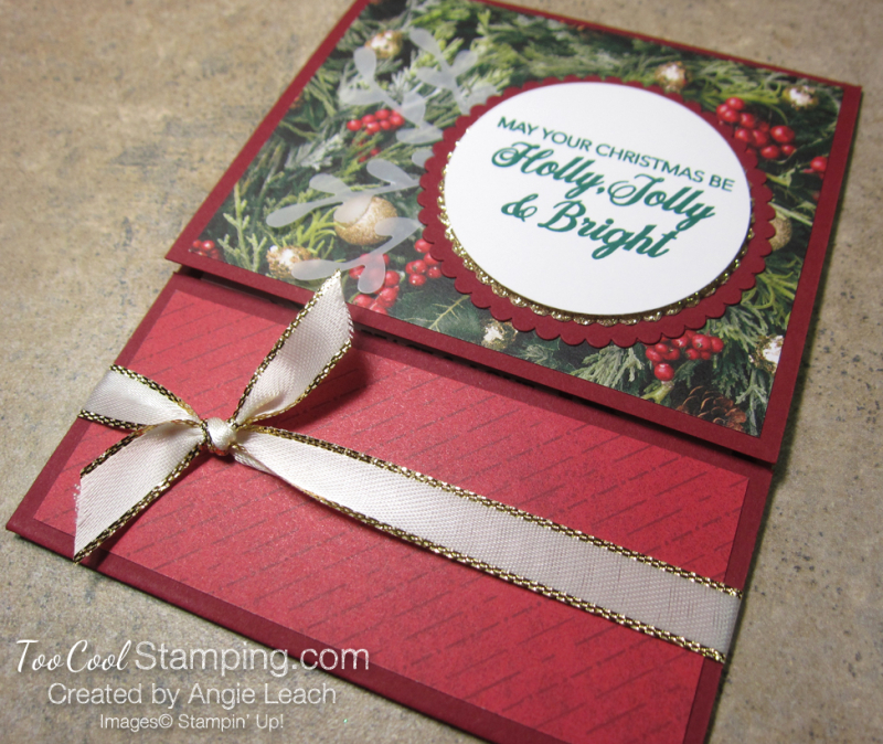 Making Christmas Bright Gift Card Holders - holly jolly 2