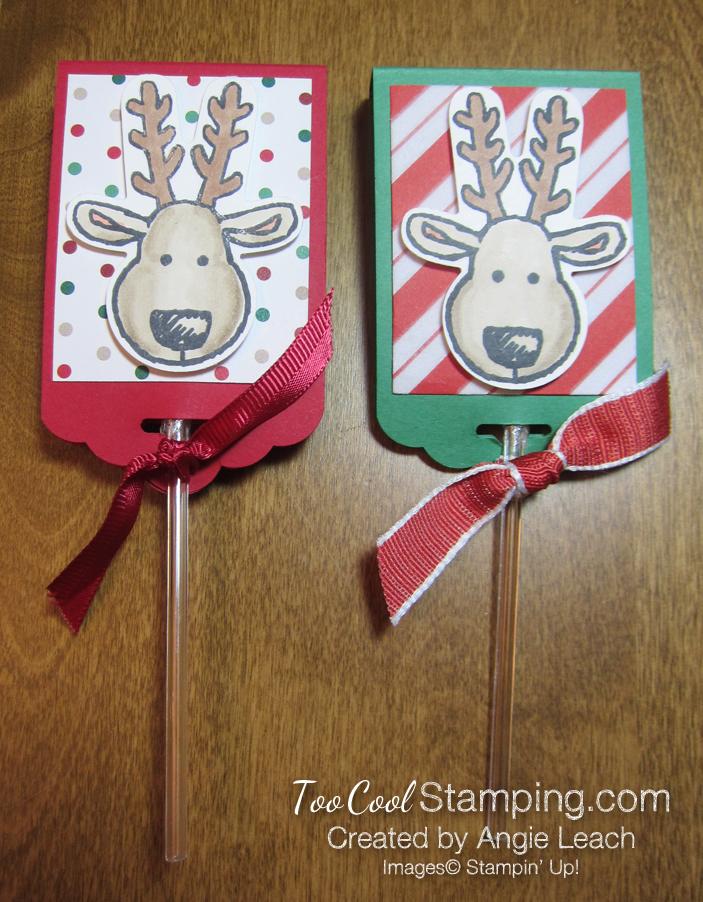 Reindeer Lollipops