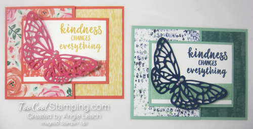 Springtime Impressions Joy Fold Cards - two cool