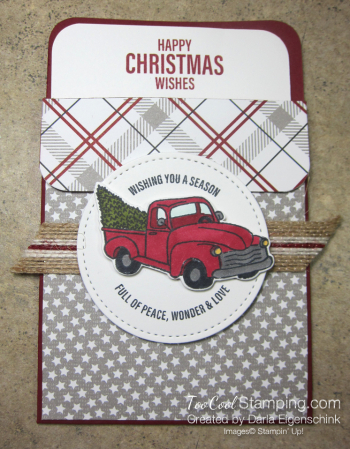 Darlas pull out gift card holders - truck