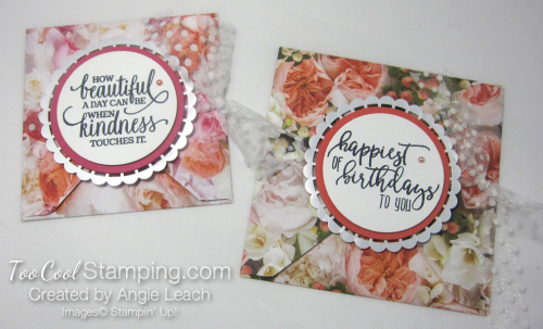 Petal Promenade Petal Fold Cards - two cool