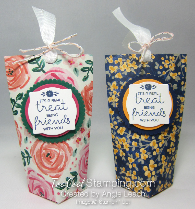 Mini square bottom treat pouch - two cool 3
