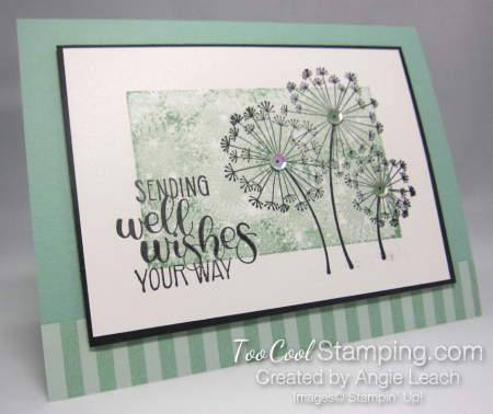 Dandelion wishes one layer - mint 1