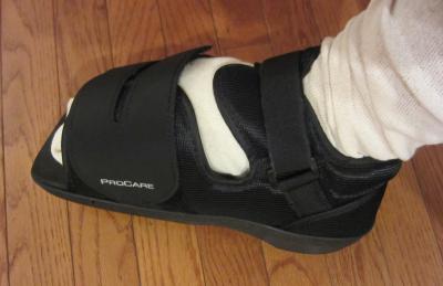 Foot surgery shoe