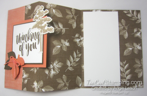 Natures poem fun fold card - suede 4