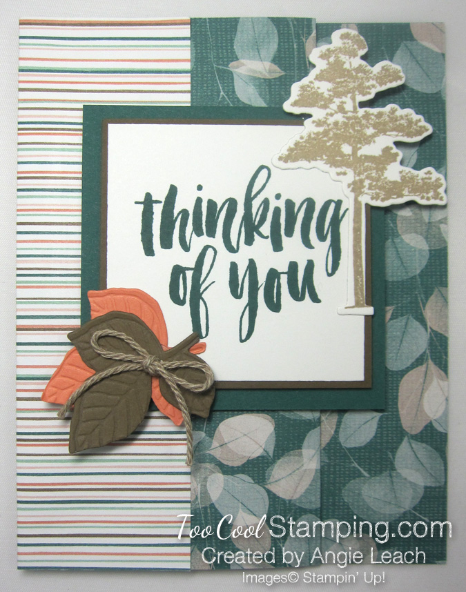 Natures poem fun fold card - tranquil 1