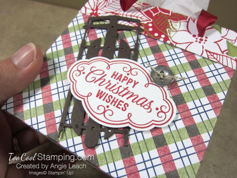 Dsp mini gift bags - plaid poinsettia 2