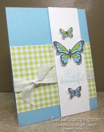 Butterfly Gala Trio - balmy blue