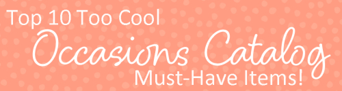 Top 10 occasions catalog items banner