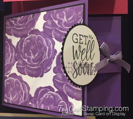 Healing Hugs swap - gorgeous grape flap