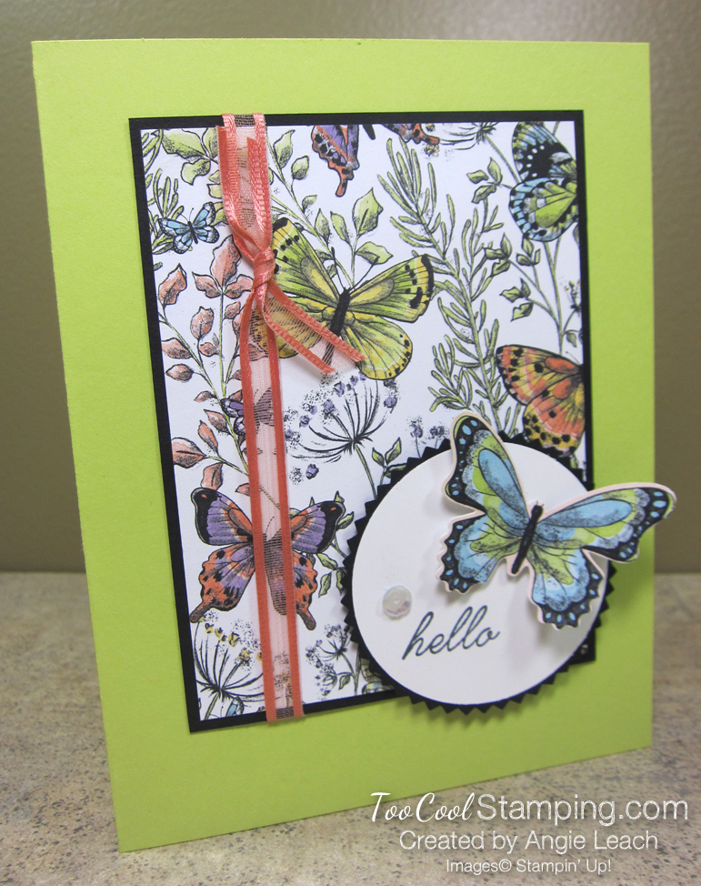 Botanical butterfly wildflowers - hello lime