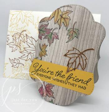 Blended seasons label card