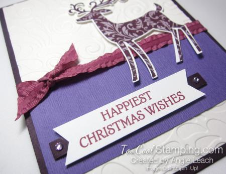 Dashing deer swirls - purples 3