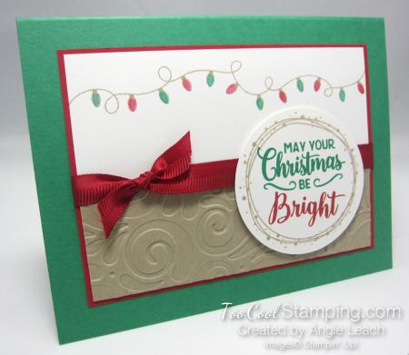 Bright christmas bulb strand - clover