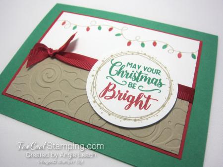 Bright christmas bulb strand - clover 2