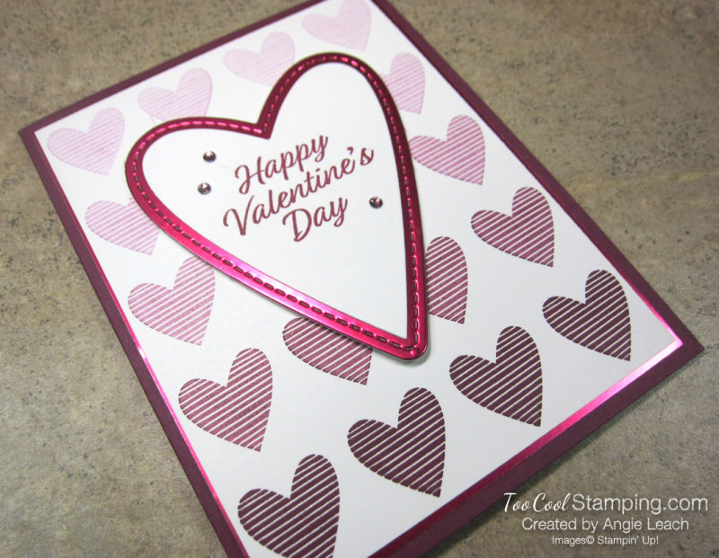 Meant to be full ombre heart - razzleberry 2