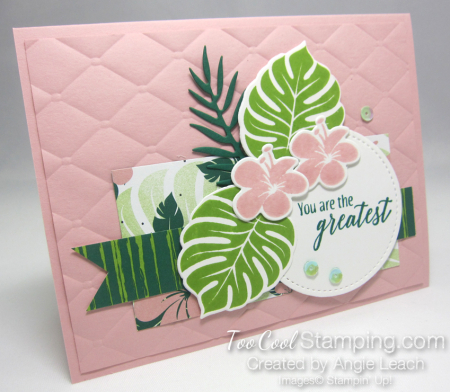 Tropical Chic Circle Collage - blushing