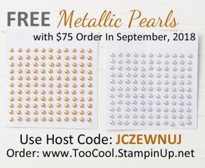 September gift - metallic pearls