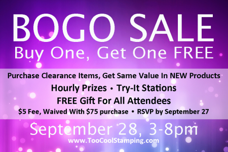 BOGO Sale sept 2018