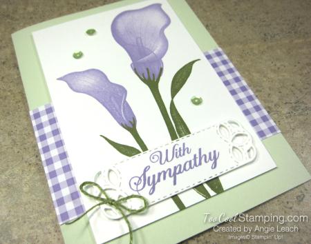 Lasting lily gingham - sea foam 2