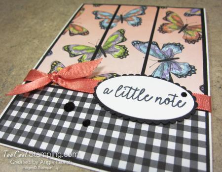 Botanical Butterfly Panels - coral butterflies 2