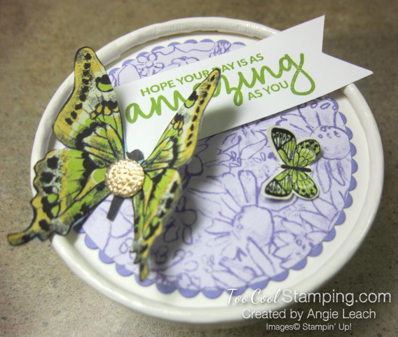 Butterfly sweet cups - lid 7