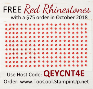 Oct 2018 Thank You Gift - Red Rhinestones
