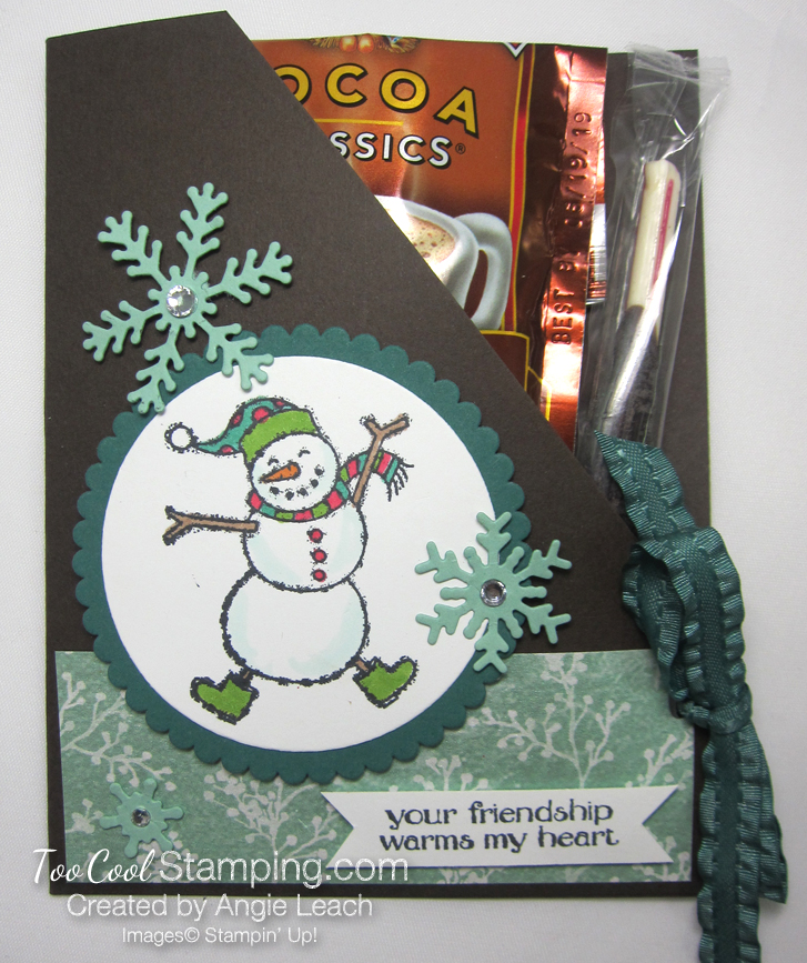 Spirited snowman hot cocoa pouches - tranquil tide 1