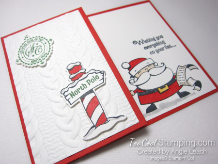 Quick & easy gift card holder - santa 2