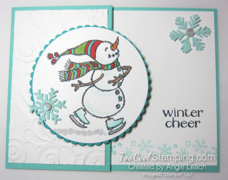Quick & easy gift card holder - snowman 1