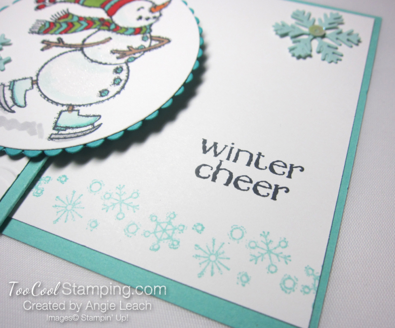 Quick & easy gift card holder - snowman 4