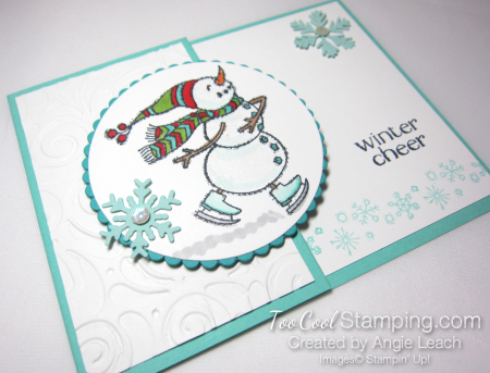 Quick & easy gift card holder - snowman 5