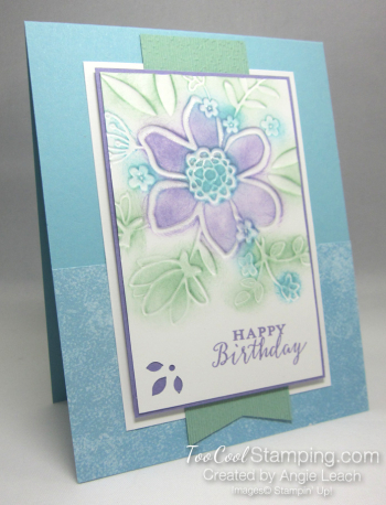 Lovely floral sponged - blues