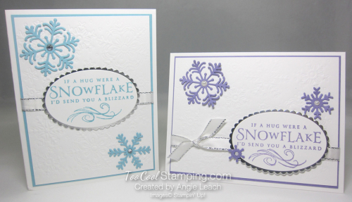 Beautiful Blizzard White Snowflake Hugs - two cool