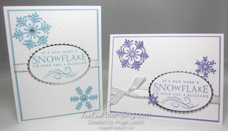 Beautiful Blizzard White Snowflake Hugs - two cool