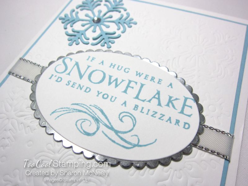 Beautiful Blizzard White Snowflake Hugs - balmy blue 4