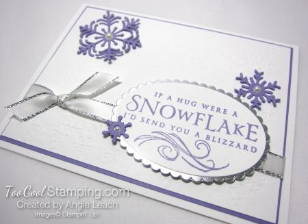 Beautiful Blizzard White Snowflake Hugs - heather 2