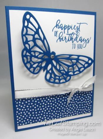 Blueberry bushel happiest birthday card
