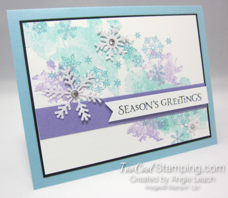 Beautiful blizzard seasons greetings - balmy