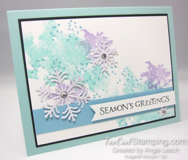 Beautiful blizzard seasons greetings - pool