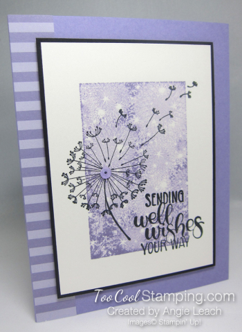 Dandelion wishes one layer - heather 1